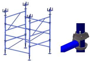 Опоры рамные чашечные используются как опорные элементы опалубки перекрытий в монолитном строительстве при больших высотах/ Опоры изготавливаются из труб по ГОСТ 3262-75