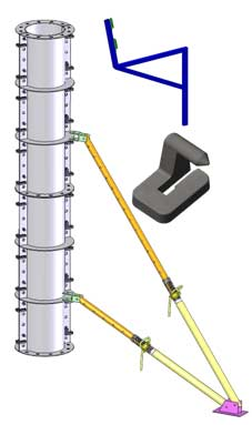 Применяется опалубка колонн, чтобы сделать геометрическую конструкцию в соответствии с архитектурной задумкой