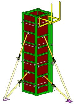 Наибольшей популярностью в строительстве пользуется опалубка типа дока, и опалубка Peri