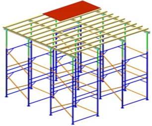 Опоры рамные для опалубки перекрытий предназначены для поддержания горизонтальных щитов опалубки при бетонировании перекрытий.